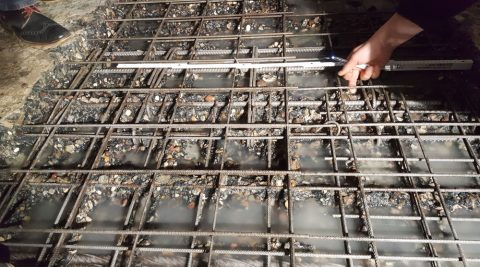 Betonabtrag einer WU-Bodenplatte, Bad Oldesloe