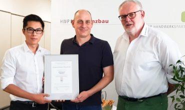 HWP Substanzbau GmbH, Mannheim erreicht höchste Qualifikation in der Betoninstandsetzung